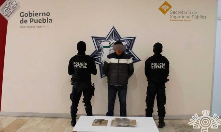 Detienen a presunto vendedor de droga de El Patrón