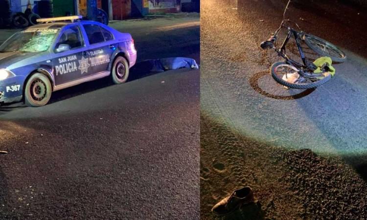 Policía de Cholula atropella y mata a ciclista; investiga Fiscalía los hechos