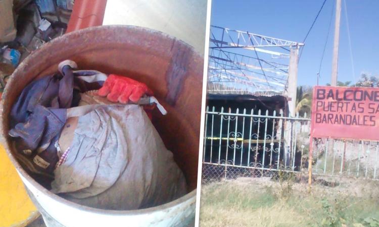 Encuentran cadáver entambado en Tilapa
