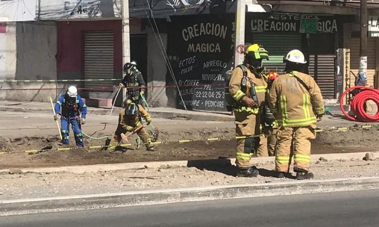 Fuga de gas en Mercado Morelos