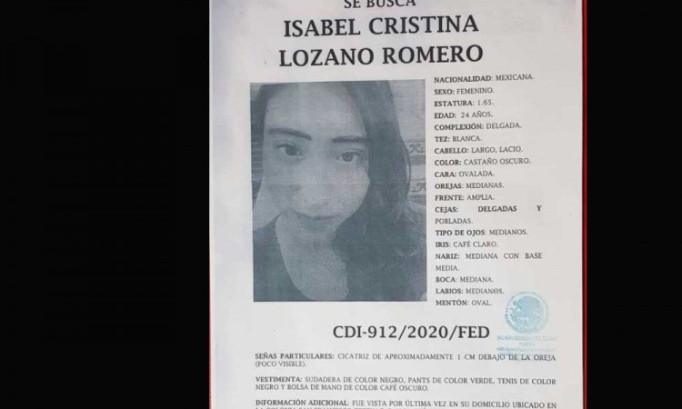 ¡Isabel está desaparecida! Ayúdanos a encontrarla