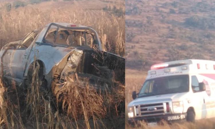 Volcadura en límites de Puebla y Tlaxcala deja muertos y lesionados