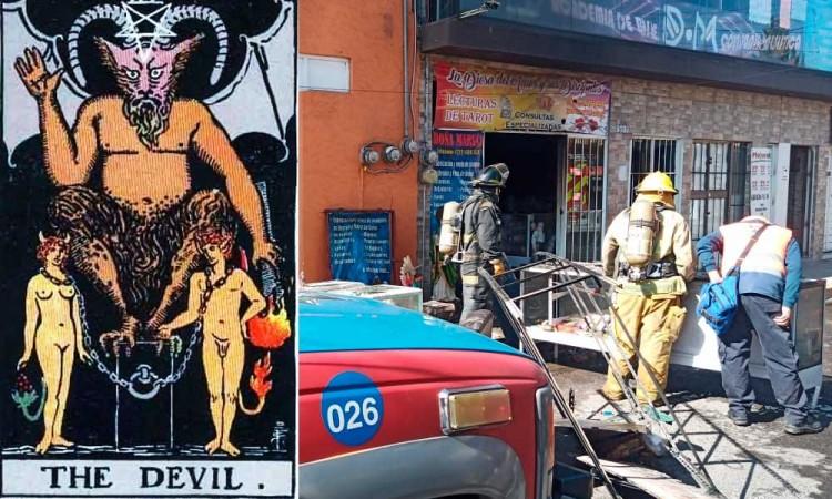 ¡Ardieron las cartas! Local de Tarot se incendia en colonia Las Cuartillas