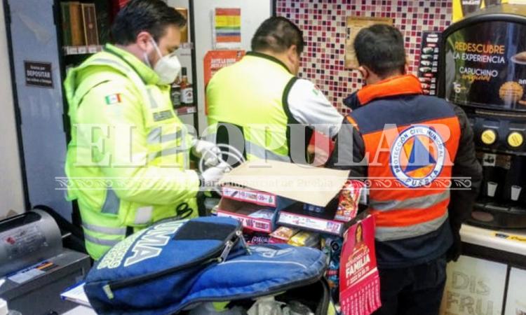 Empleada de Oxxo recibe descarga eléctrica en Lomas de Loreto