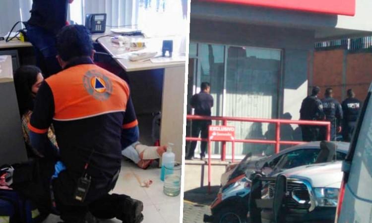 Empleada de Santander Zavaleta sale herida en violento asalto armado