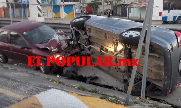 En 90 minutos ocurren tres choques de autos particulares en Puebla