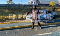 Auto termina en ciclovía y deja dos lesionados en  San Andrés Cholula
