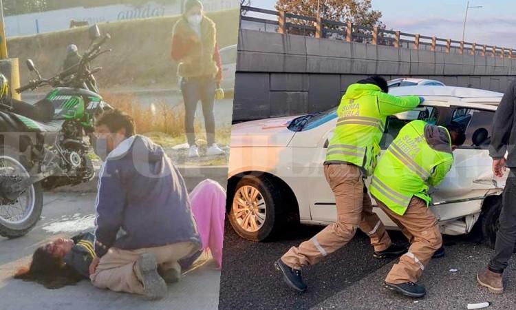 En Puebla siguen manejando como locos: se registran dos accidentes en la ciudad