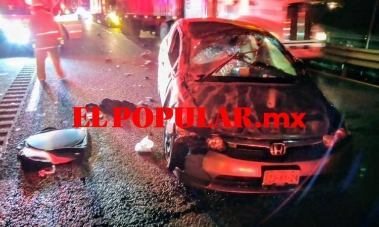 Gruyero muere arrollado y desmembrado mientras trabajaba sobre la autopista Puebla-Orizaba