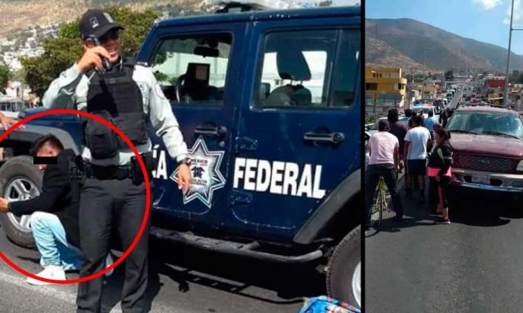 Dan golpiza a ladrón en Tecamachalco, policía llegó a rescatarlo