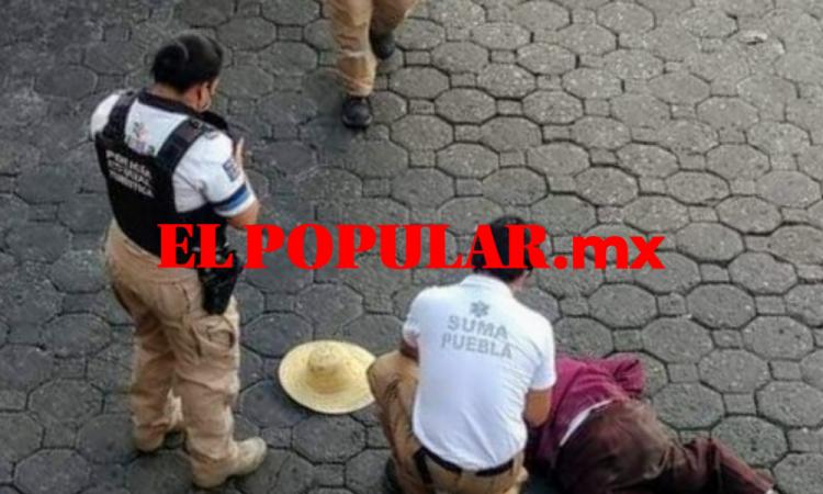 Adulto mayor muere luego de ser atropellado en el Centro Histórico de Puebla