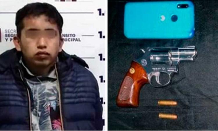 Frustran policías robo a Oxxo en Huejotzingo