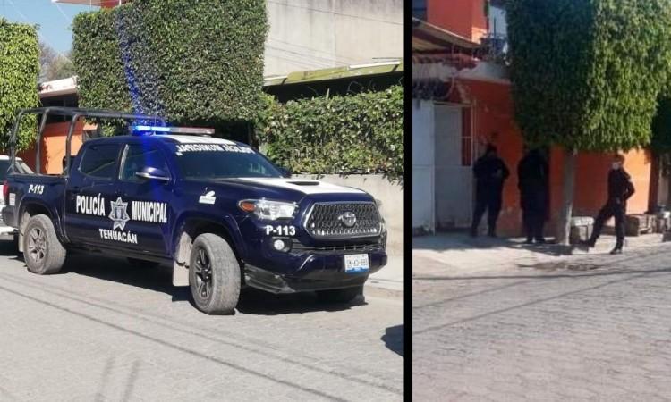 Los elementos de la Policía Municipal acordonaron el área.