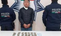 Detienen a presunto distribuidor de droga en Amozoc