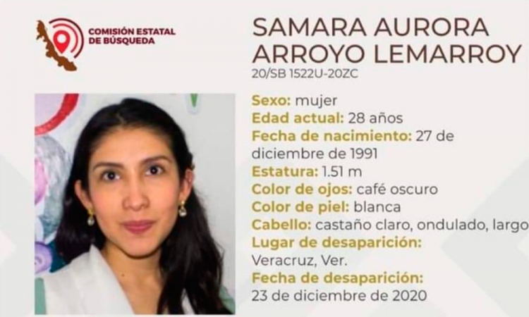 ¿La has visto? Samara Aurora Arroyo desapareció en Veracruz