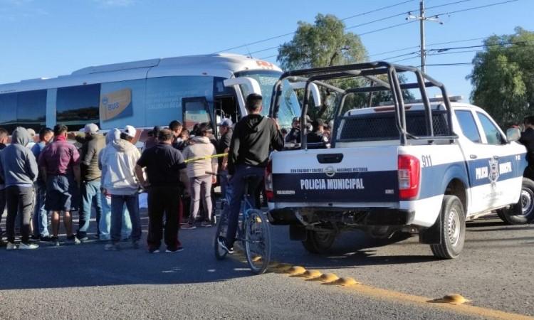 El autobús fue enviado al corralón oficial.