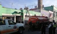 Fuego consume negocio en San Pedro Cholula