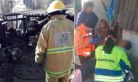 Incendio deja daños y a mujer con crisis nerviosa en Cholula
