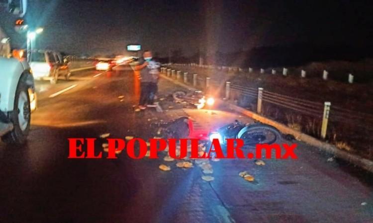 Muere motociclista en choque sobre la autopista Puebla-Orizaba