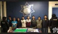 """Tras operativo en Atlixco, capturan a 8 integrantes de la banda de """"Los Angelinos 13"""""""