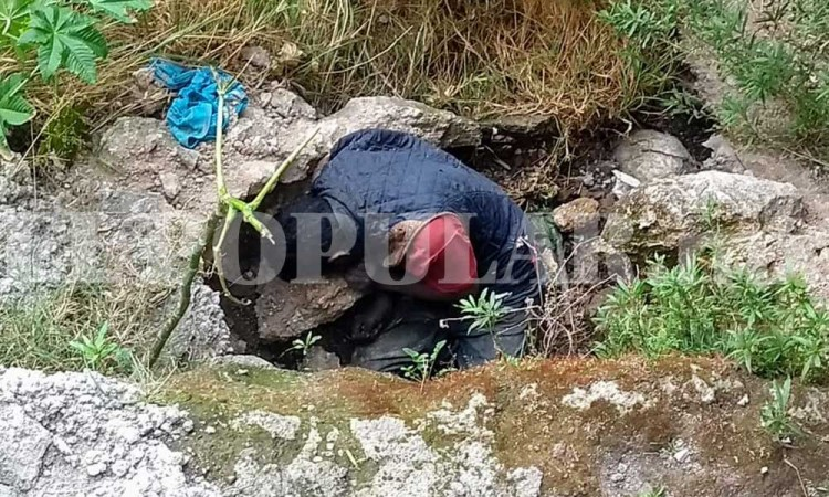 Aparece un cadáver en barranco de Amozoc