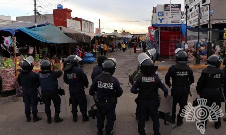 El operativo realizado por la Policía Estatal no registró incidentes.