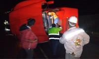 Cierran la autopista México-Tuxpan por volcadura de pipa