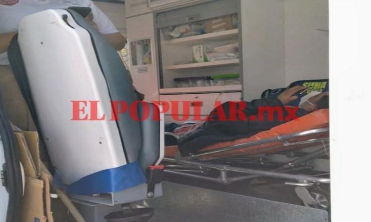 Peatón termina lesionado al ser embestido por moto