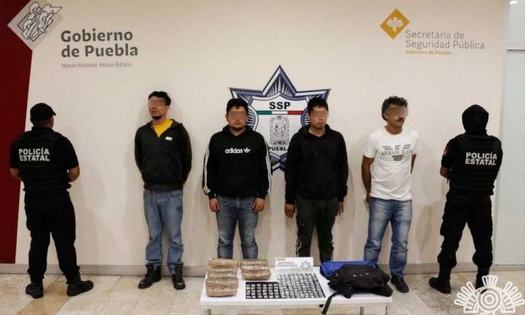 Captura a cuatro presuntos distribuidores de drogas de El Chupón