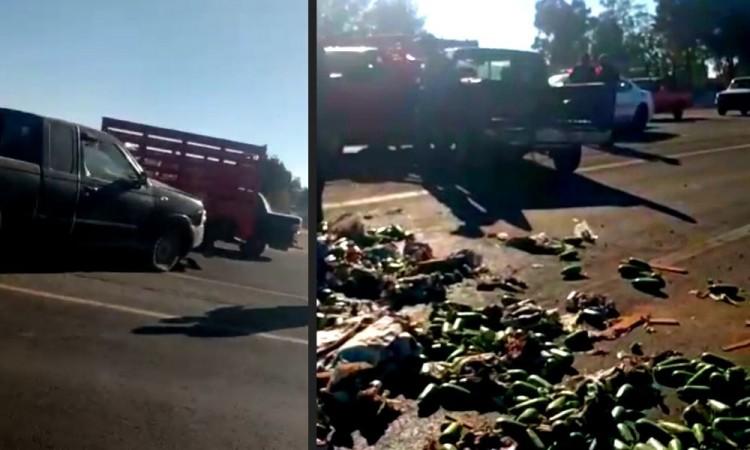 Chocan camionetas en Tecamachalco, una mujer resultó herida