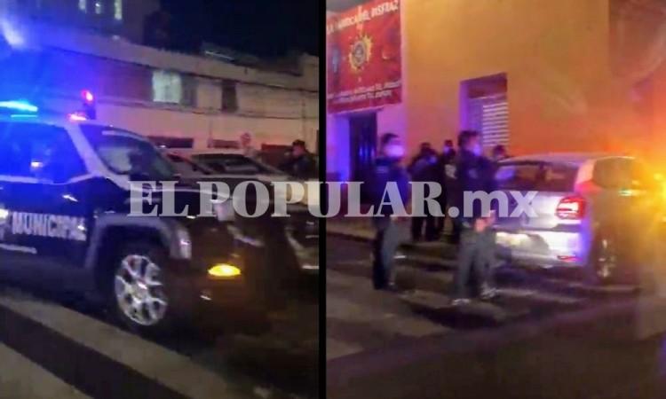 Ocurre otro choque de patrulla municipal, ahora en el Centro Histórico