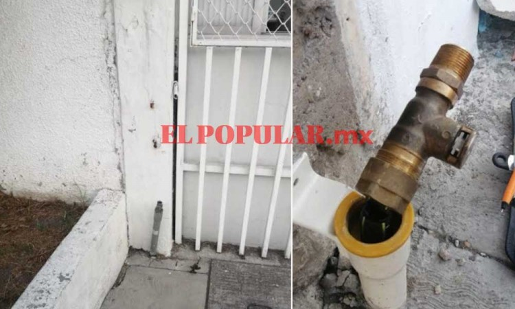 Ladrones de válvulas y tubería provocan dos fugas de gas natural