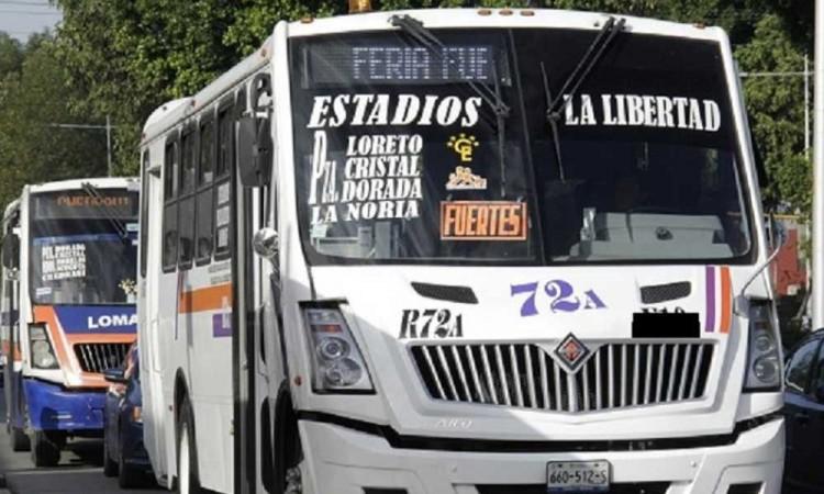 ¡Wey ya! Robo a unidades de transporte de pasajeros en Puebla los tiene hartos