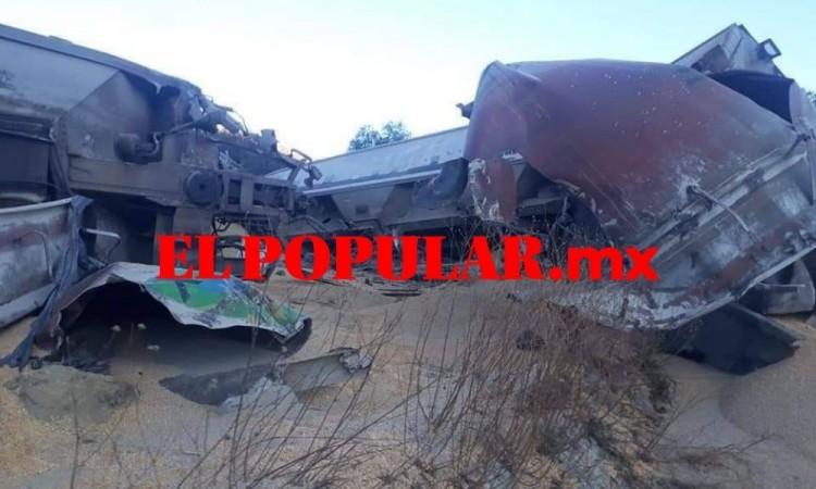 Descarrila tren por deslave en el municipio de Cañada Morelos