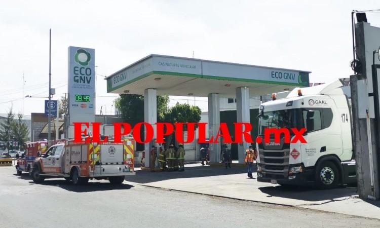 Fuga de gas en gasera es atendida por PC en la colonia Las Cuartillas