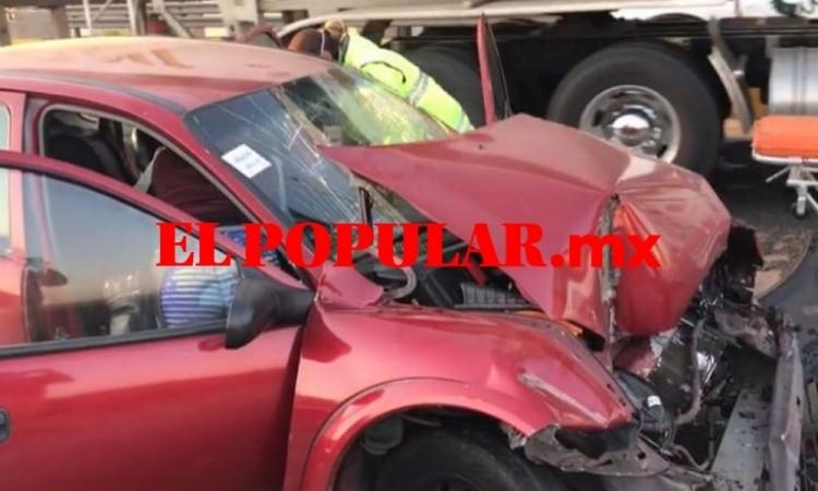 Hombre con síntomas de Covid-19 resultó lesionado por choque sobre la autopista México-Puebla