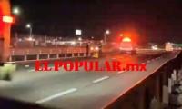 Hombre muere desmembrado al ser arrollado en la autopista México-Puebla