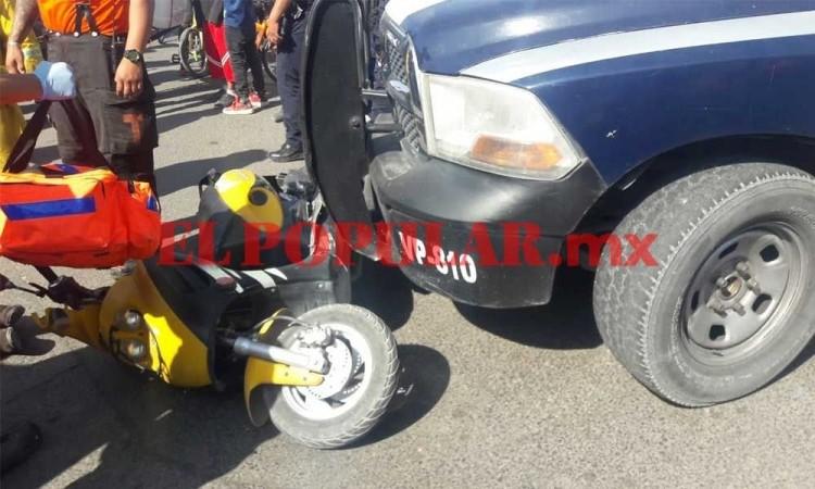 ¿Otra patrulla? Madre e hija terminan lesionadas por choque con una unidad de la Policía Municipal al sur de Puebla