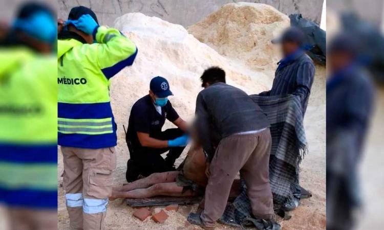 Trabajador sufre quemaduras en casi todo el cuerpo en San Pedro Cholula