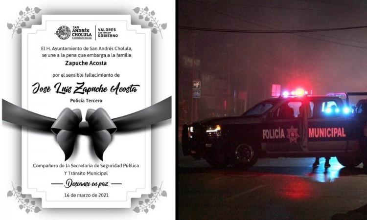 Muere policía municipal de San Andrés Cholula; fue atropellado en Calzada Zaragoza