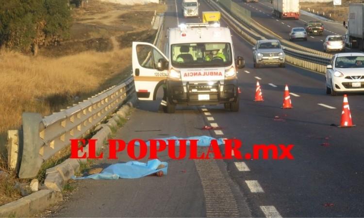 Persona muere arrollada y termina desmembrada en la autopista Puebla-Orizaba