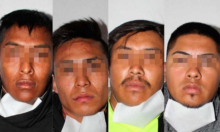 Detienen a cuatro sujetos por robo a casa habitación al norte de la capital poblana