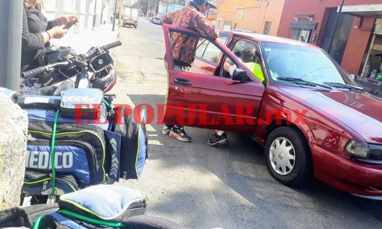 ¡Otra más! Patrulla estatal choca en la colonia Centro de Puebla