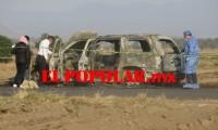 Localizan auto calcinado y dentro cadáver en las mismas condiciones en San Pedro Cholula