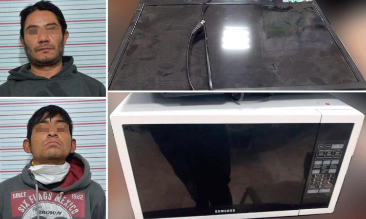 Policía Municipal detiene a dos sujetos tras asaltar negocio en Bulevar Norte