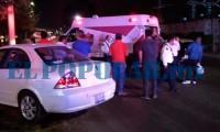 Motociclista resulta lesionado luego de impacto contra un auto