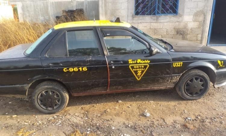 Atracan a taxista y le roban unidad, horas después es ubicada en Amozoc de Mota