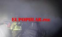 Incendio en presidencia auxiliar de Totimehuacan