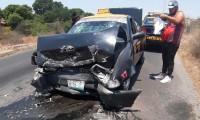 Choque frontal deja un herido en la carretera a Valsequillo