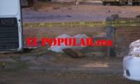 Hombre falleció por broncoaspiración en vía pública frente al deportivo de la unidad habitacional Loma Bella